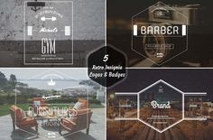 Check out 5 Retro Insignia Logos & Badges by Symufa on Creative Market