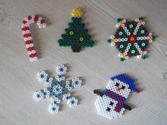 Christmas ornaments hama beads by mademoisellekoala