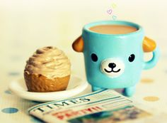 Cute coffee mug & cupcake