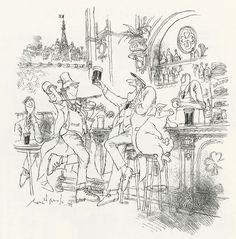 ParisIrish Pubs - Ronald Searle