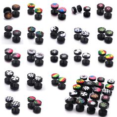 1)Type: Ear expender plugs piercing Body jewelry. 2pc 8/10MM Acrylic Fake Cheater Plug Taper Tunnels Ear Stud Extender Stretcher. 4)Quantity:2pcs =1pair.