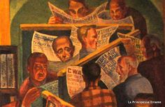 WPA Murals at Coit Tower in San Francisco