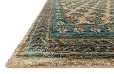 Nomad Beige Ocean Rug Western Rugs - Featuring rich colors, ethnic patterns and an earthy 100% jute fiber, the Nomad rug from India pays homage to tribal design while updating the look for todays interiors. The thick, hand knotted pile and bold design make for an eye catching centerpiece in any room.