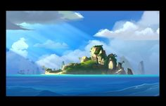 Moon island by cyrilcorallo on deviantART
