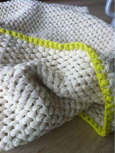 Tæppe - hæklet