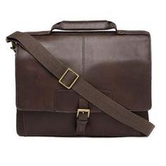 a92616549e0e Iceman 02 Mens Leather Briefcase (Brown)
