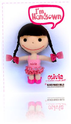 ~ cute Olivia plush doll from Oliver Makes Dolls ~