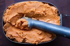 Recipe: 3-Ingredient Healthy Ice Cream - 1/2 C Coconut Milk, 1.3T starch, 1.5 C fresh juice