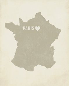 Can't wait for this trip!!      I Love Paris Wood Block Art Print  France City  Heart by LuciusArt, $39.00