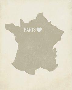 Carte de France avec Paris
