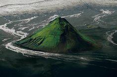 The Maelifell volcano on the edge of the Myrdalsjökull glacier, Iceland.