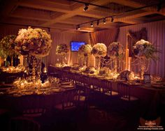 Dark wedding, I like the centerpieces alot but would like the flowers in darker colors.