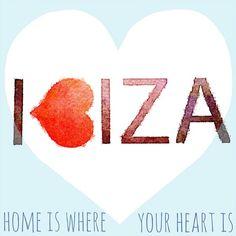 Home is where the heart is. #ibiza #ibizalove #heart