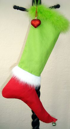 The Grinch Christmas Stocking Mr. Grinch by LadyKatherinesNoel