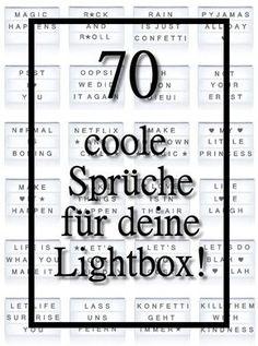 70 coole Sprüchen für deine Lichtbox - Quotes, Lightbox