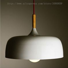 Aliexpress.com : Buy Dia 32cm Black/White Color Modern Nordic Style Metal Wooden Pendant Light Lamp Ceiling Fixtures Lighting from Reliable light bulb lamp suppliers on September Modern Decoration Lighting Shop | Alibaba Group
