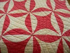 ANTIQUE QUILT * RED & WHITE * ESTATE FIND * NO RESERVE!! GREAT CONDITION!!, eBay, chic1350