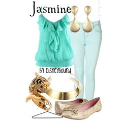 Jasmine by leslieakay on Polyvore featuring Ally Fashion, Dirty Laundry, Blu Bijoux, DANNIJO, Kenneth Jay Lane, Disney and disney