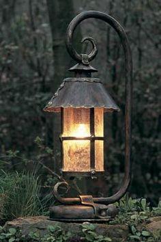 Wonderful lantern made of forged iron: