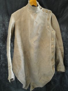Vtg 1900s 20s French canvas work fencing sports military hunting jacket shirt   eBay