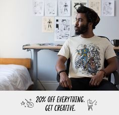 Use code CREATIVITY. Expires on May 9, 2016 at 11:59pm Pacific Time. 20% OFF EVERYTHING - GET CREATIVE