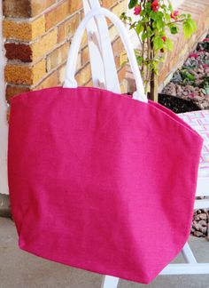 Burlap Bag, Perfect for Beach, Shopping, Gym by SoBlank on Etsy