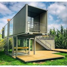 Get the (guide+plans) to build Shipping Container Home: . - Contains A-Z instructions for building container home and a variety of plans🏚 -… Storage Container Homes, Building A Container Home, Container Design, Shipping Container Buildings, Shipping Container Home Designs, Shipping Containers, Off Grid House, Backyard House, Container Architecture