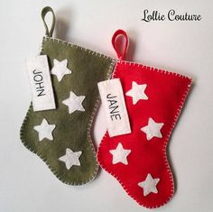 Your place to buy and sell all things handmade Mini Christmas Stockings, Mini Stockings, Christmas Stocking Holders, Holiday Ideas, Christmas Ideas, Merry Christmas, Christmas Decorations, Christmas Ornaments, Holiday Decor