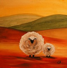 Shop for sheep art from the world's greatest living artists. All sheep artwork ships within 48 hours and includes a money-back guarantee. Choose your favorite sheep designs and purchase them as wall art, home decor, phone cases, tote bags, and more! Sheep Paintings, Animal Paintings, Sheep Art, Cow Painting, Farm Animals, Fine Art America, Folk Art, Painting Inspiration, Art Projects
