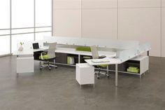 Teamworx Desking Office System Cluster Tables Adjustable Benching And Desking Systems