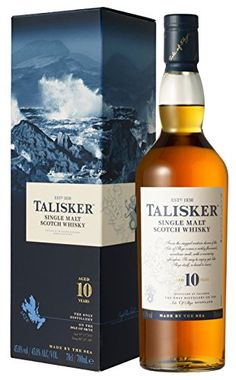 Talisker 10 Year Old Single Malt Scotch Whisky, 70 cl This ten year old is the only malt produced on the Isle of Skye. andlt