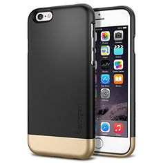 iPhone 6 Case, Spigen® [Safe Slide] iPhone 6 (4.7) Case Protective [Style Armor] [Smooth Black] SOFT-Interior Scratch Protection Metallic Finished Base with Dual Layer Protection Slim Trendy Hard Case for iPhone 6 (4.7) (2014) - Smooth Black (SGP11047) Spigen http://www.amazon.com/dp/B00LL6CIX4/ref=cm_sw_r_pi_dp_zjAuub1XRF38P