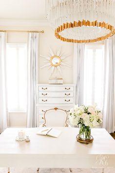 Glam Home Office Reveal – Randi Garrett Design – Home Office Design Diy Interior Design Career, Home Office Design, House Design, Interior Blogs, Bright Homes, Custom Drapes, Do It Yourself Home, Elegant Homes, Design Firms