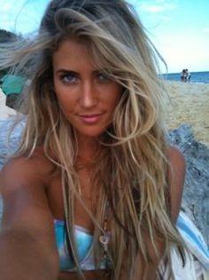 that beachy look...i miss it.
