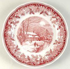 Spode Winter's Eve Red Dinner Plate 6118780 | eBay