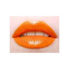 Trend oranje lippen Girlscene ❤ liked on Polyvore featuring lips and makeup