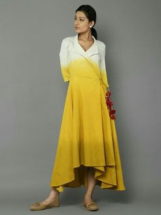 Neck Designs for Kurtis - Thinking how to get your new suit stitched? From split neck to halters, check out the latest Kurti Neck Designs pattern to help you in picking the best. Kurta Designs Women, Blouse Designs, Latest Kurti Designs, Indian Designer Outfits, Designer Dresses, Indian Dresses, Indian Outfits, Indie Mode, Mode Alternative