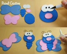 Discover recipes, home ideas, style inspiration and other ideas to try. Kids Crafts, Foam Crafts, Preschool Crafts, Diy And Crafts, Arts And Crafts, Paper Crafts, Diy Y Manualidades, Pencil Toppers, Marianne Design