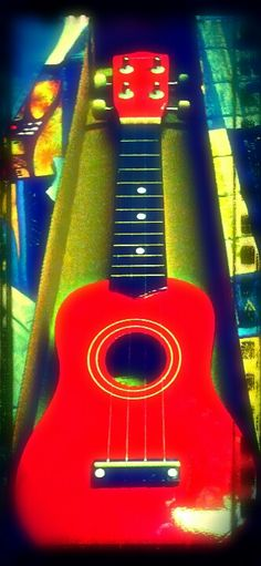 My ukulele. Edited with pilax