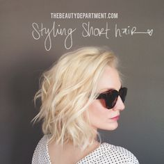 short hair tutorials on thebeautydepartment.com
