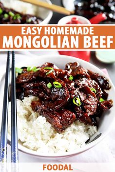 Bursting with tender meat, this easy Mongolian beef recipe is a total flavor bomb. The quick, easy recipe comes together in less than 30 minutes. Vegan Recipes Easy, Pork Recipes, Asian Recipes, Healthy Dinner Recipes, Cooking Recipes, Savoury Recipes, Asian Foods, Chinese Recipes, Avocado Recipes