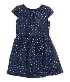 Jersey Dress | Dark blue/hearts | Kids | H&M US