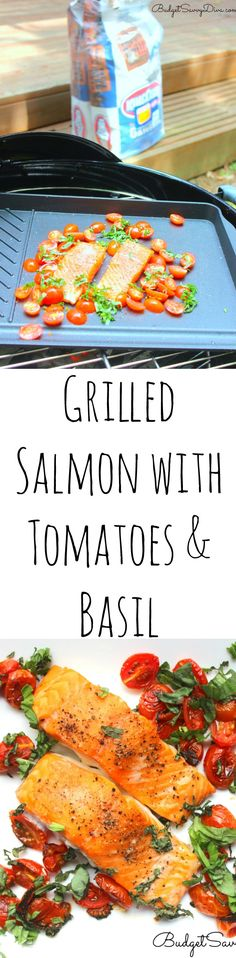 Grilled Salmon with Tomatoes & Basil Recipe - this recipe is amazing and simple to make - it is also gluten - free.The freshness from the basil and tomatoes make the flavors of the salmon pop! I cannot wait to make it again. #ad  Love This Fish Recipe - #KingsfordFlavor