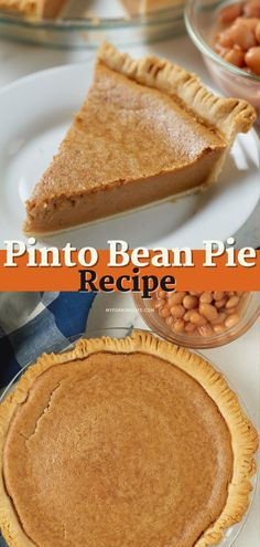 Desserts For A Crowd, Holiday Desserts, Easy Desserts, Sweet Pie, Sweet Tarts, Pinto Bean Pie Recipe, Pie Dessert, Dessert Recipes, French Coconut Pie