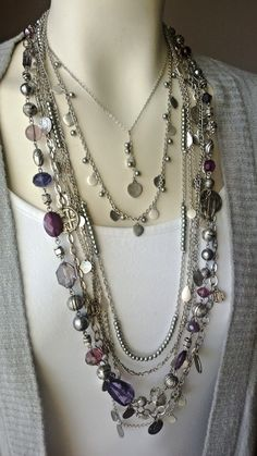 Harmony Necklace combined with Passionista Necklace