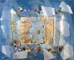 Glifos 49. Pintura en venta realizada por el pintor Jose Francisco. Técnica Mixta sobre papel.
