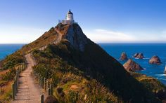 Nugget Point is one of the most distinctive landforms along the Otago coast. Its a steep headland with a lighthouse and a scattering of rocky islets (The Nuggets).