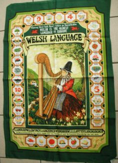 Vintage Cotton TEA Towel Welsh Language Words Made IN Britain Clive Mayor | eBay