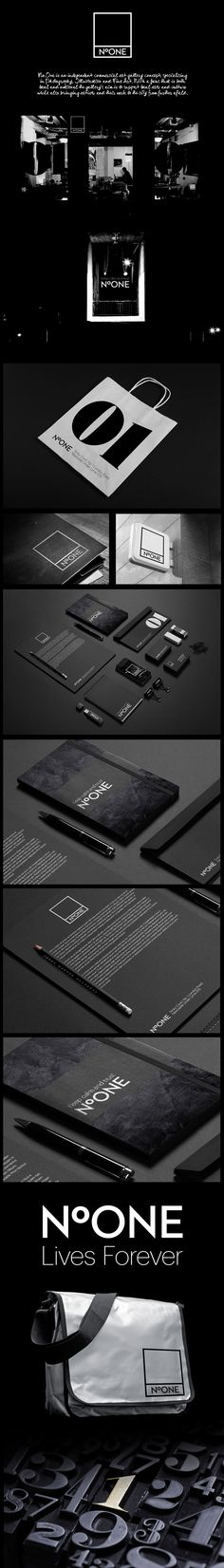 No.ONE Gallery by Lukasz Kulakowski #identity #packaging #branding PD