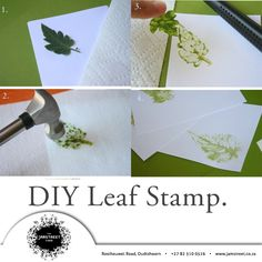 Want to do something creative today try this DIY Leaf Stamp. No paint required! Fun Projects, Something To Do, Leaves, Stamp, Creative, Artist, How To Make, Diy, Painting